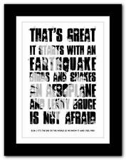 R.E.M.- It's The End Of The World ❤ song lyrics typography poster art print
