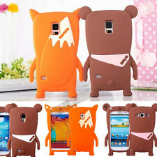 3D Cute Fox & Bear Soft Silicoen Back Case Cover for Samsung Galaxy S3 S4 S5