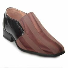 Smart dress shoes for boys, kids, Stripy  Leather Lining Fabric Upper Shoes.