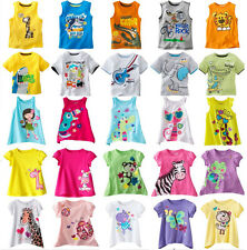 Boys Girls 100% cotton short sleeve Tops & T-Shirts Baby Toddler Kid's 18mos-5T