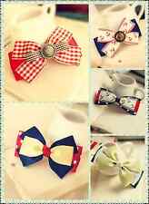 List4 Top Quality New Sorted Cute Hair Bows Lace Girls Bobby Pins Clips Hairware