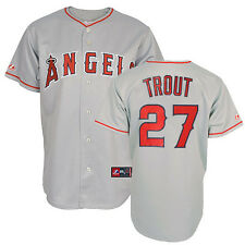 2014 Mike Trout Los Angeles Anaheim Angels Grey Road Replica Jersey Men's