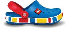 New Crocs Crocband Kids LEGO Clog Shoes Boys Girls SZ 6/7 8/9 10/11 12/13