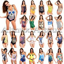 New 50 Style Sexy Women One-Piece Swimsuit Monokini Cartoon Bikini Set Swimwear