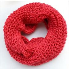 2 Circle Winter Women Warm Infinity  Cable Knit Cowl Neck Long Scarf Shawl