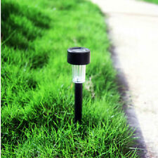 Outdoor Cool Warm Solar Powered LED Lawn Garden Yard Path Light Post Lamp
