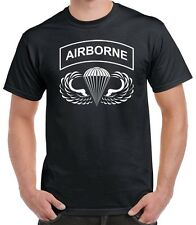 Airborne Hardcore T Shirt - Paratrooper Jump Wings 82nd 101st - 0027
