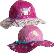 Girls Forever Friends Bear Novelty Floppy Summer Sun Hat Cap Pink 2-6yrs