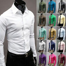 Luxury Men's Slim Fit Dress/Casual Stylish Shirts 5 Sizes and Many Colors PK22