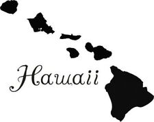 Hawaii Hawaiian Islands Map vinyl decal sticker WINDOWS ECT.....10,9,8,7,6
