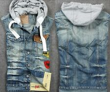 Hot Sale Cool Men's Jeans Denim Fashion Jacket Hooded Casual Sleeveless Vest