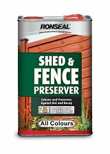 New Ronseal Shed & Fence Preserver - 5 Litres - All Colours - For Exterior Wood