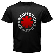 New RHCP RED HOT CHILI PEPPERS Rock Band Logo Men's Black T-Shirt Size S to 3XL