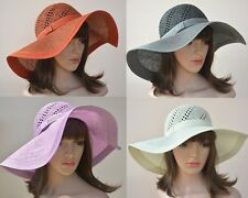 A210 New Chic Formal Elegant Women Wide Brim Sun Beach Straw Floppy Hat
