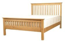 Ivory Solid Oak Bed 4FT6 And 5FT Double Bed Frame And King Size Bed Frame