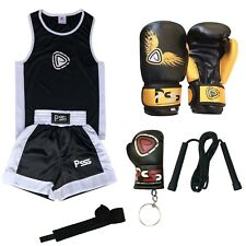 KIDS BOXING SET OF 2 PIECES TOP & SHORTS AGE (5-12 YEARS) BOXING GLOVES (1005)
