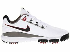 New Nike TW '14 Tiger Woods White/Pewter/Red/Grey Golf Shoes -Pick Size & Width