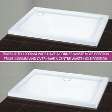 Stone shower tray free waste quadrant/square/rectangle NEXT DAY DELIVERY