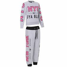 NEW LADIES NYC SWEAT TOP & JOG BOTTOMS SET TRACKSUIT S/M M/L L/XL