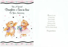GREAT QUALITY HAPPY WEDDING ANNIVERSARY DAUGHTER & SON-IN-LAW GREETINGS CARDS