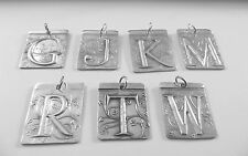 STERLING INITIAL PENDANTS~PURE .999 FINE SILVER~HANDMADE By Tina Shackleford