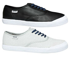 DUNLOP VOLLEY MENS O.C. PERFORATED LEATHER CASUAL/SNEAKERS/LACE UP ON EBAY AUS