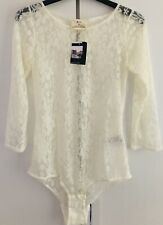 Urban Outfitters Cream Pins and Needles Floral Lace Body Bodysuit BNWT UK XS S