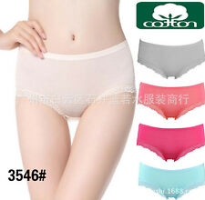 Sexy Women Lady Pure Cotton Lace Briefs Panties Underwear Knickers Lingerie
