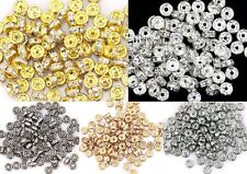 100pcs Hot sale Crystal Rhinestone Paved Copper Metal Spacer Beads Findings4mm
