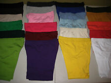 Cotton Spandex Bike Shorts Misses Womens Plus Size Leggings Many Colors S-5XL