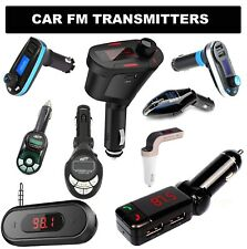 In Car wireless FM transmitter MP3 FM radio Audio Music for Mobile★iPhone★ipod★
