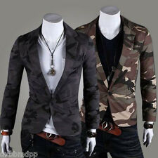 New MEN Military STYLE Camouflage Slim Fit Small Suit Blazer