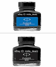 Parker Quink Blue Black Ink Bottle Bottles 30 Ml 1 oz Blue Black New Sealed Pack