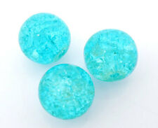 Wholesale Lots PCs Blue Crackle Glass Round Beads 10mm Findings