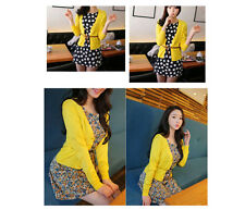 New Women Casual V-Neck Knit Sweater Cardigan Coat Tops Knitted Outwear 2 Types
