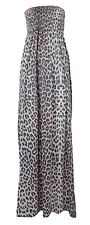 New Womens Plus Size Printed Boob Stretch Sheering Maxi Dresses 8-22