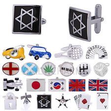 Men's Novelty Cuff Links Classic Casual Party Suit Accessory Fun Hobby Cufflinks