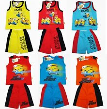 Despicable Me Minions Boy Kid Outfit Set Cotton Top+Shorts Size 2-4 age 0-3
