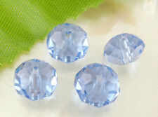 Wholesale Lots Blue Crystal Glass Faceted Rondelle Beads 5040 8x6mm