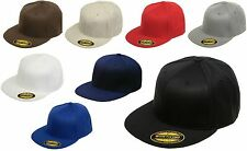 Original FLEXFIT® 210 NEW Premium Flatbill Blank Fitted Flat Bill Cap Hat 6210FF