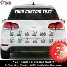 Chrome Personalized Custom 4 x 30 Window Decal Vinyl Text Lettering Boat Car
