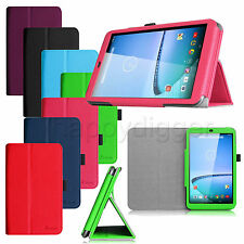Folio Premium Leather Case Stand Cover for Hisense Sero 8 Tablet + Stylus Holder