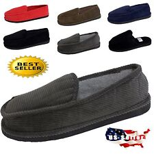 MENS SLIPPERS OPEN BACK & SLIP ON HOUSE SHOE SIZE 4~13 INDOOR OUTDOOR MOCCASIN