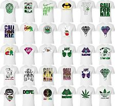 California Republic Bear san diego Cali Life West Coast diamond ALL WHITE Tee