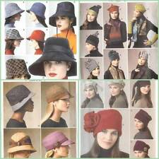 Vogue Sewing Pattern Winter Hats One Size XS S M L 20 1/2 to 23 1/2 You Choose