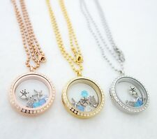 STAINLESS STEEL LIVING MEMORY LOCKET FOR FLOATING CHARMS BEACH THEME U.S. SELLER