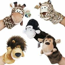 Children Kids Plush Velor Toys Animals Zoo Parents Storytelling Aid Hand Puppets