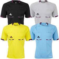 adidas Performance Mens Climacool Short Sleeve Referee Shirt Jersey Top New