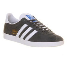 Adidas Gazelle Og SHARP GREY WHITE Trainers Shoes
