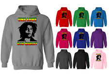 Womens Bob Marley One Love Reggae Pullover Hoodie NEW UK 12-20